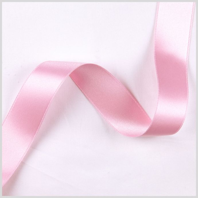 Pink Double Face French Satin Ribbon - 1