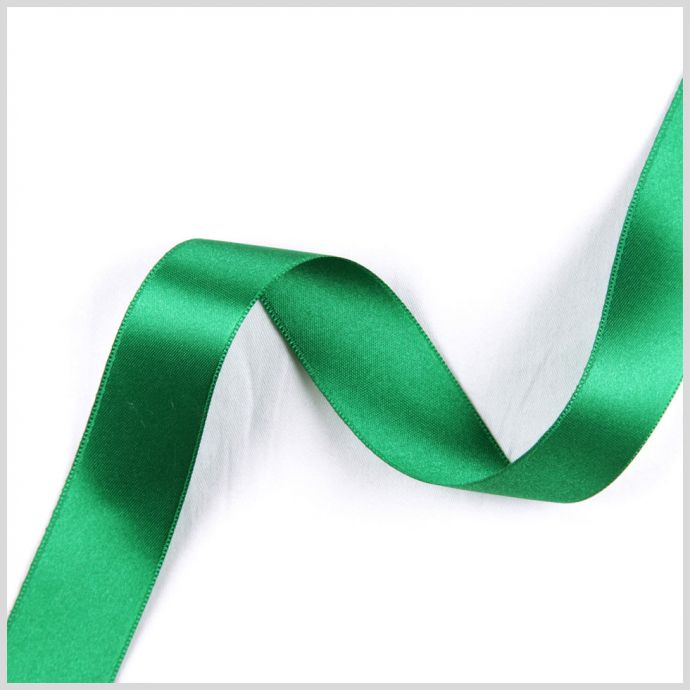 Emerald Double Face French Satin Ribbon - 1