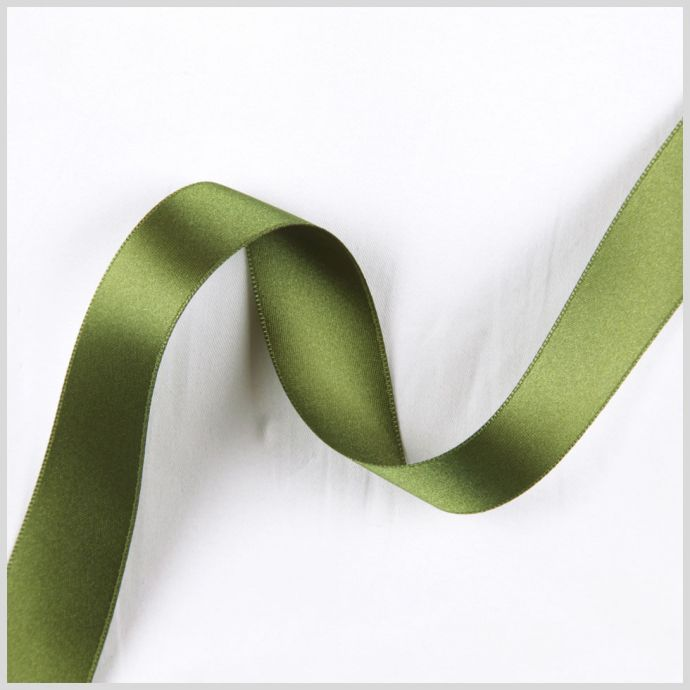 3/8 Green Double Face French Satin Ribbon