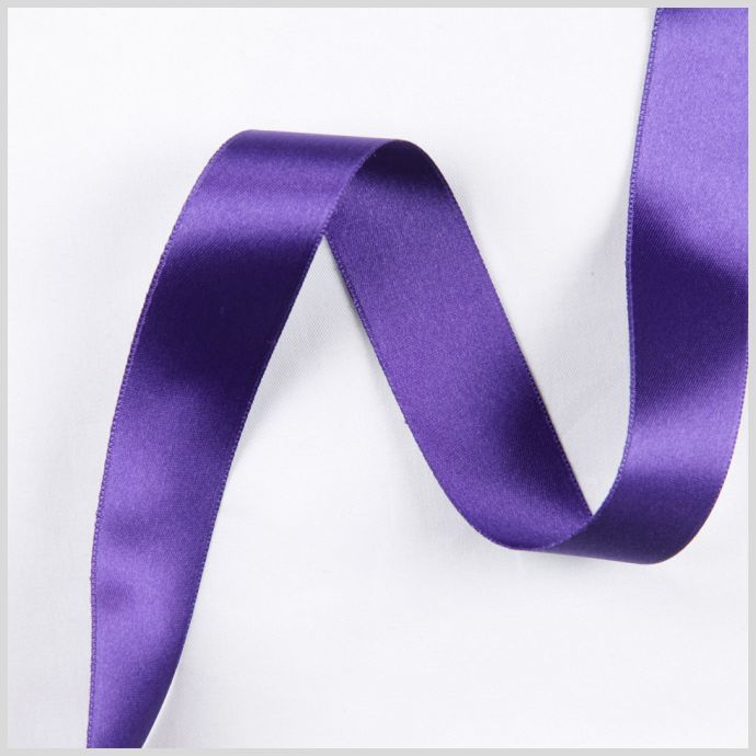 3/8 Purple Double Face French Satin Ribbon