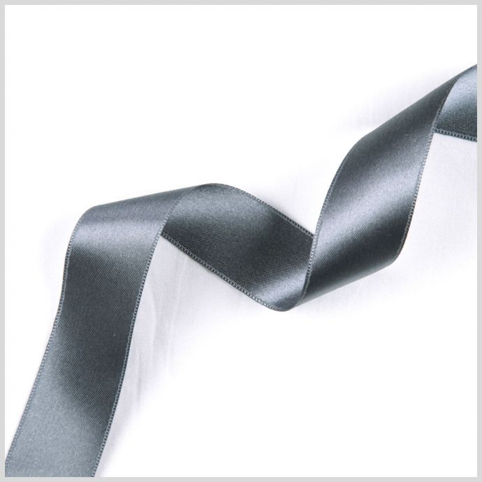 3/8 Silver Double Face French Satin Ribbon