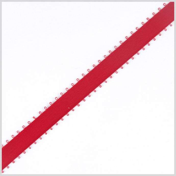 3/16 Red Double Face Feather Edge Satin Ribbon