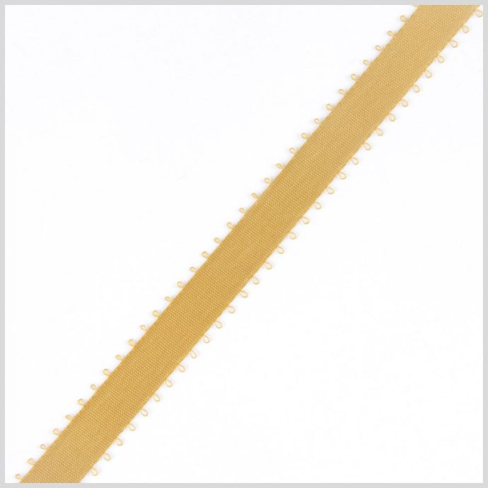 3/16 Old Gold Double Face Feather Edge Satin Ribbon