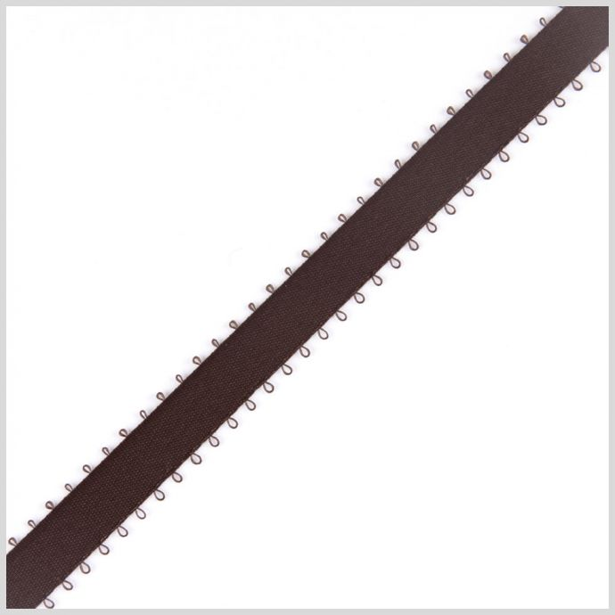 3/8 Brown Double Face Feather Edge Satin Ribbon