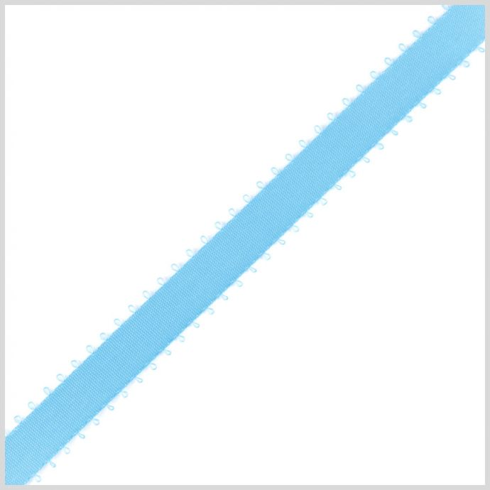 3/8 Misty Turquoise Double Face Feather Edge Satin Ribbon