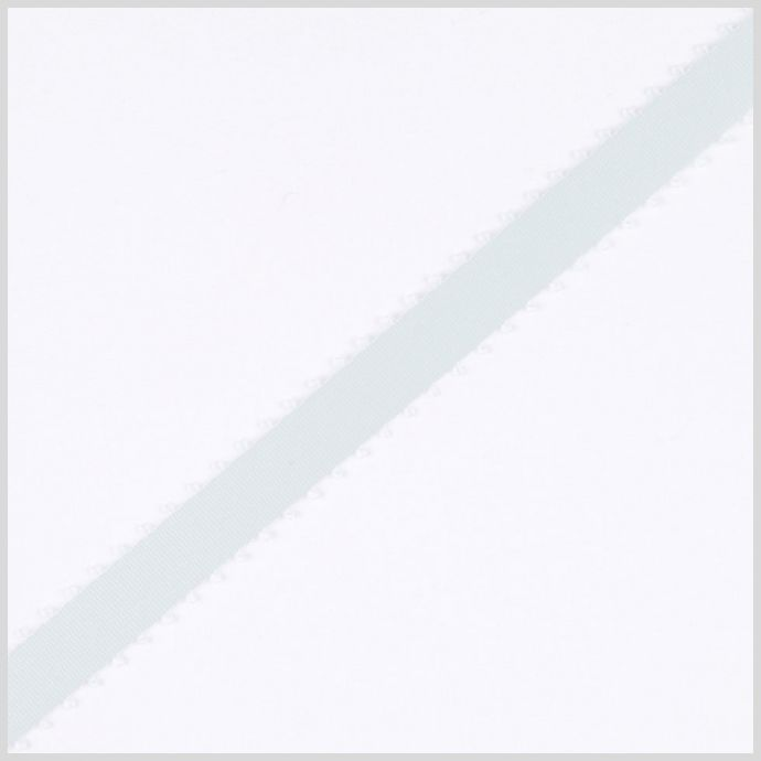 3/8 Ice Mint Double Face Feather Edge Satin Ribbon