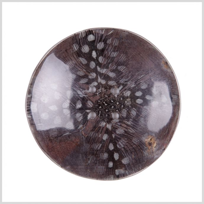 70mm Gray Feather Button