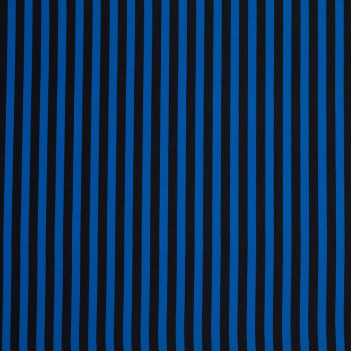 Imperial Blue Striped Polyester Woven