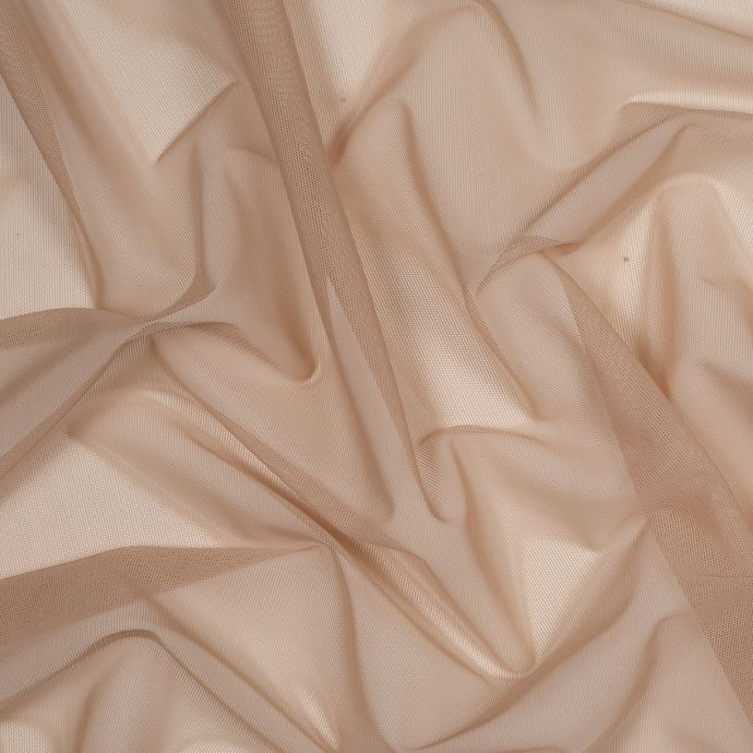 Mellow Buff Stretch Polyester Tulle