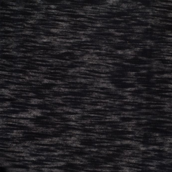 Heathered Black and Navy Cotton Jersey