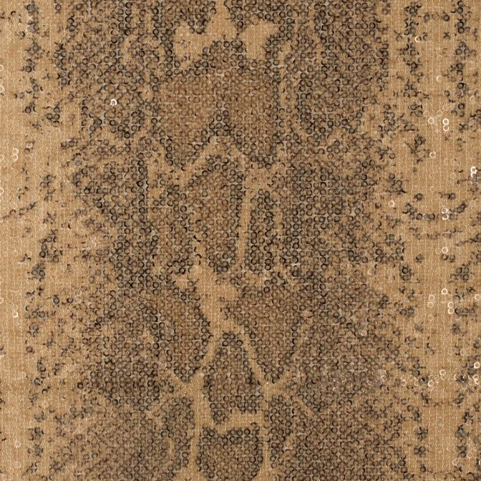 Parakeet Reptile Sequined on Blended Rayon Stretch Netting