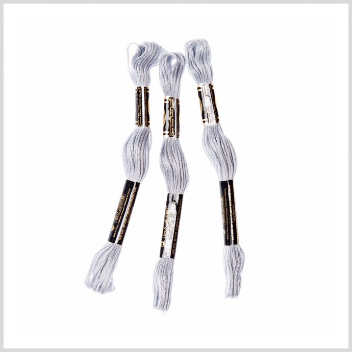 3-Pack DMC Size 6 Embroidery Floss #415 Pearl Gray