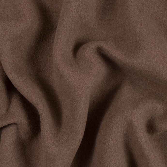 Famous NYC Designer Brown Boiled Cashmere Double Cloth