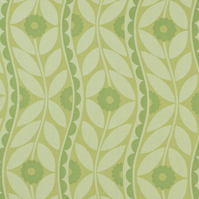 Green Floral Printed Cotton Woven