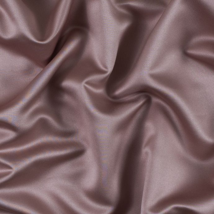 Warm Taupe Polyester Satin