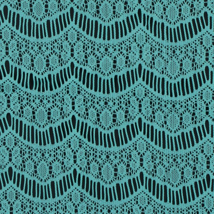 Spearmint Crochet Lace with Eyelash and All-over Scallop Design