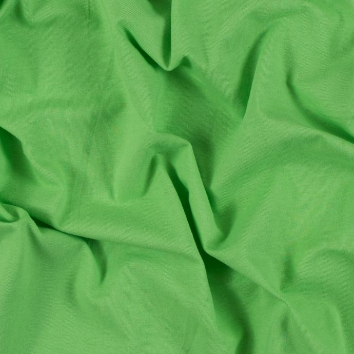 Lime Solid Cotton Jersey