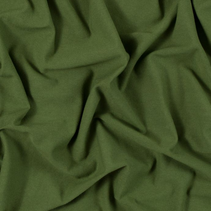 Olive Solid Cotton Jersey