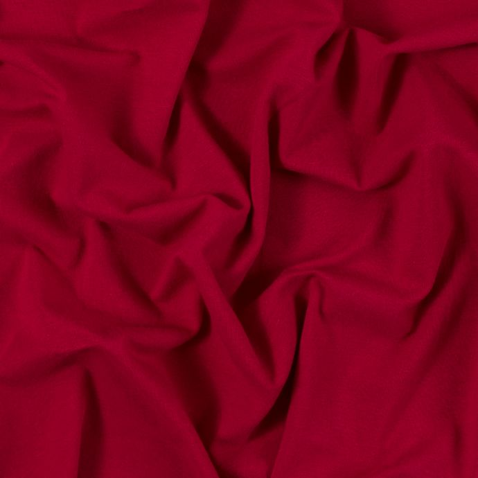 Red Solid Cotton Jersey