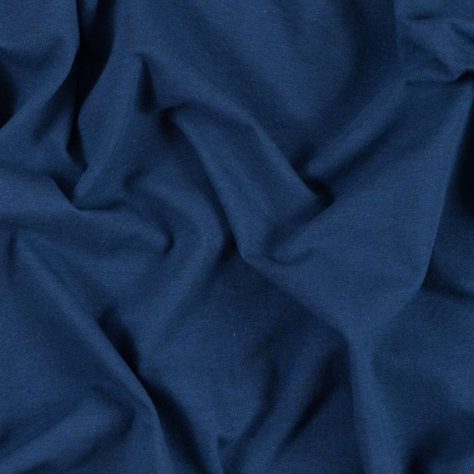 Navy Solid Cotton Jersey
