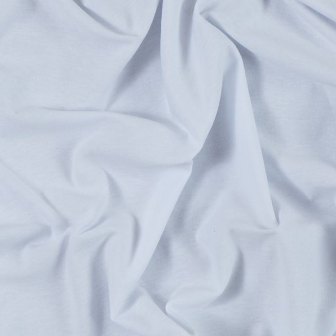 White Wide Solid Cotton Jersey