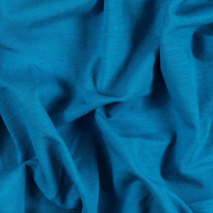 Turquoise Wide Solid Cotton Jersey