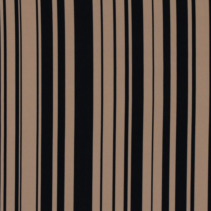 Natural and Black Striped Polyester Lining