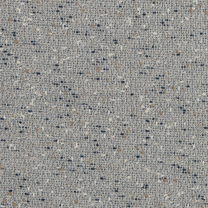 Midnight Navy and Turtledove Loosely Woven Cotton Tweed