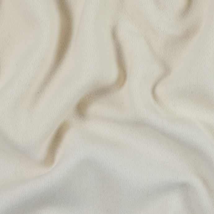 Winter White Brushed Double Faced Wool Coating