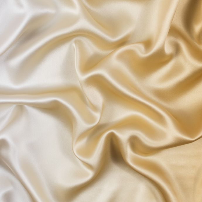 Gold and Beige Ombre Silk Charmeuse