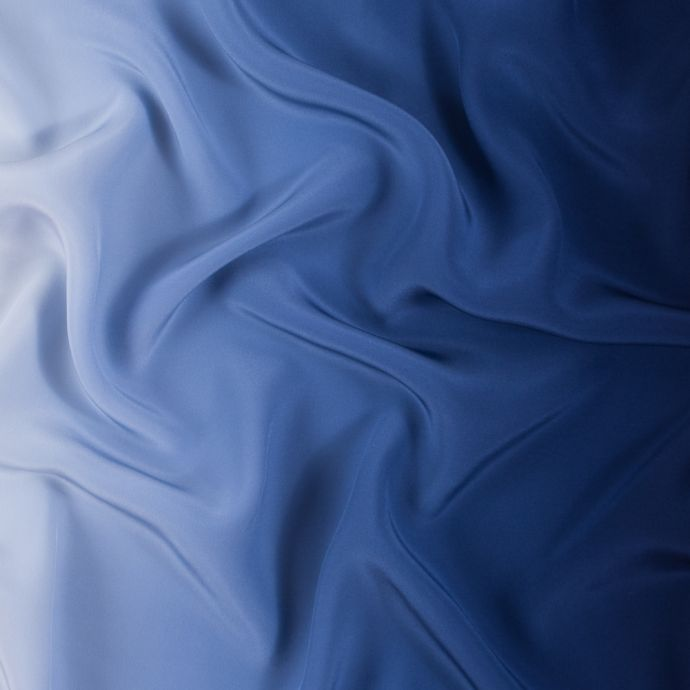 Blue and Ivory Ombre Silk Charmeuse