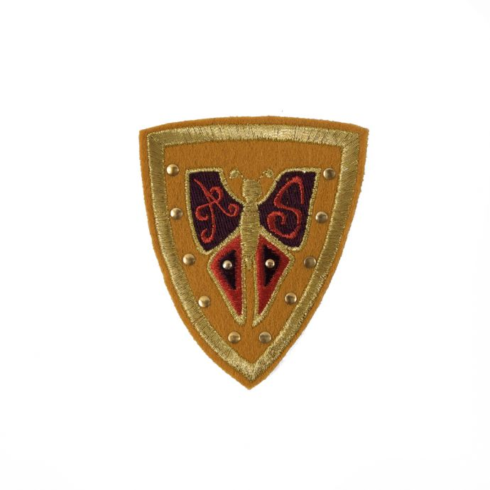 Mustard Military Butterfly Patch