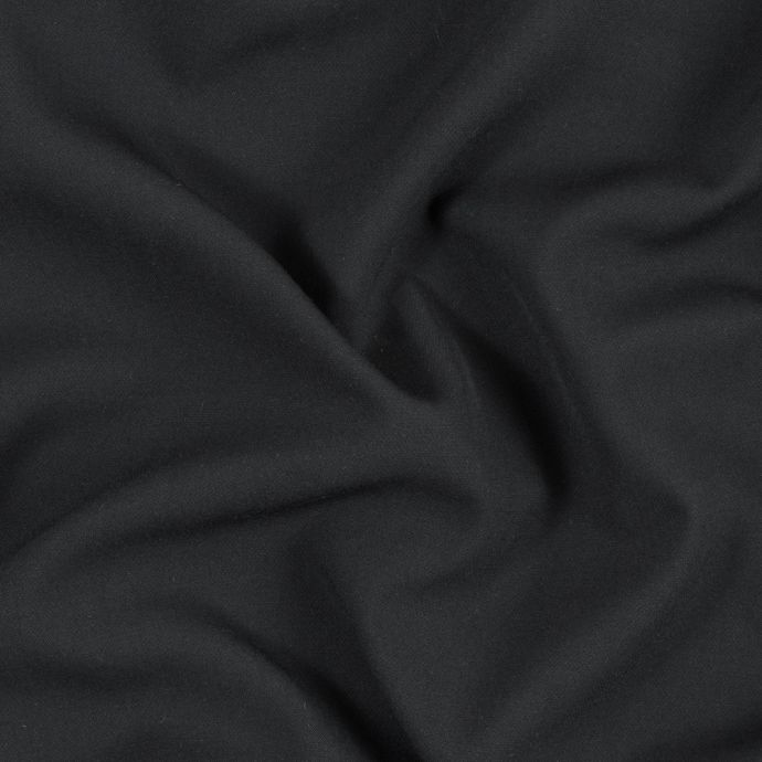 Black Stretch Double Faced Suiting