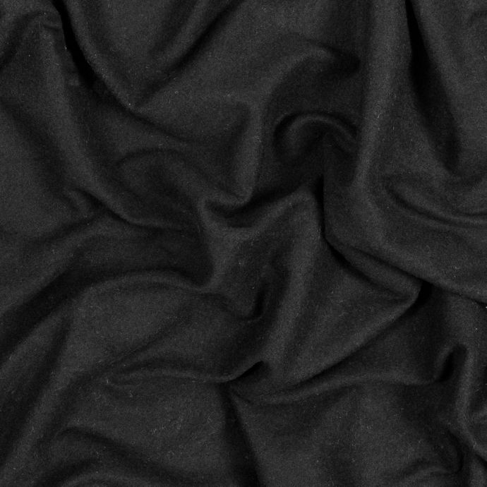 Black Bamboo and Cotton Stretch Knit Fleece