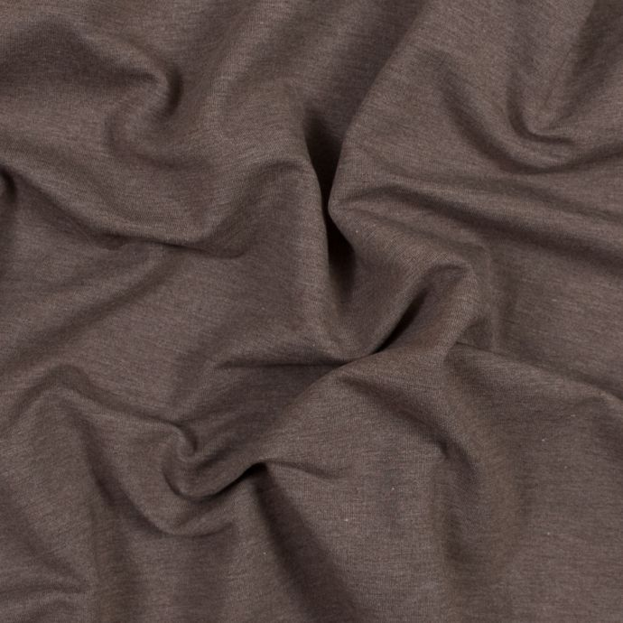 Heathered Chocolate Bamboo and Cotton Stretch Knit Fleece