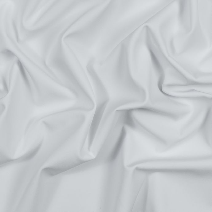 White Performance Soft Shell Woven with a Fleece Back