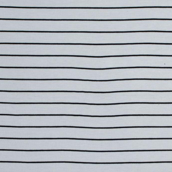 White and Black Pencil Striped Jersey