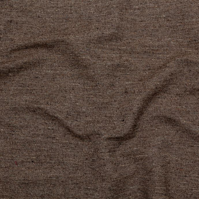 Heathered Roasted Cashew and Sugar Swizzle Heavy Duty Wool and Cotton Twill
