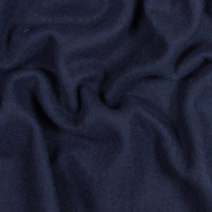 Navy Blue Double Faced Wool Coating