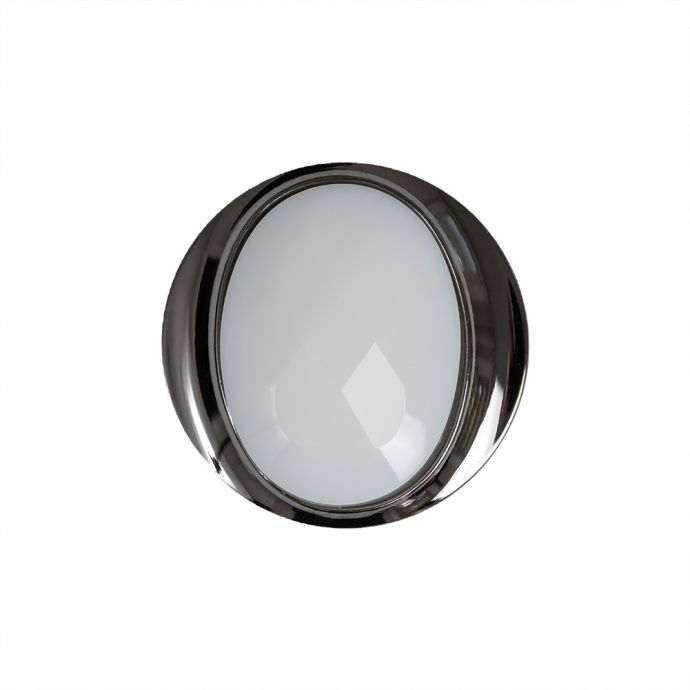 White and Gunmetal 2-Piece Faceted Shank Back Button - 36L/23mm