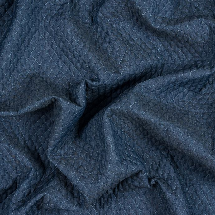 Diamond Quilted Denim Coating with Filler
