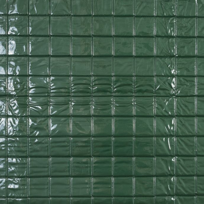 Green Square Vinyl Quilted Coating