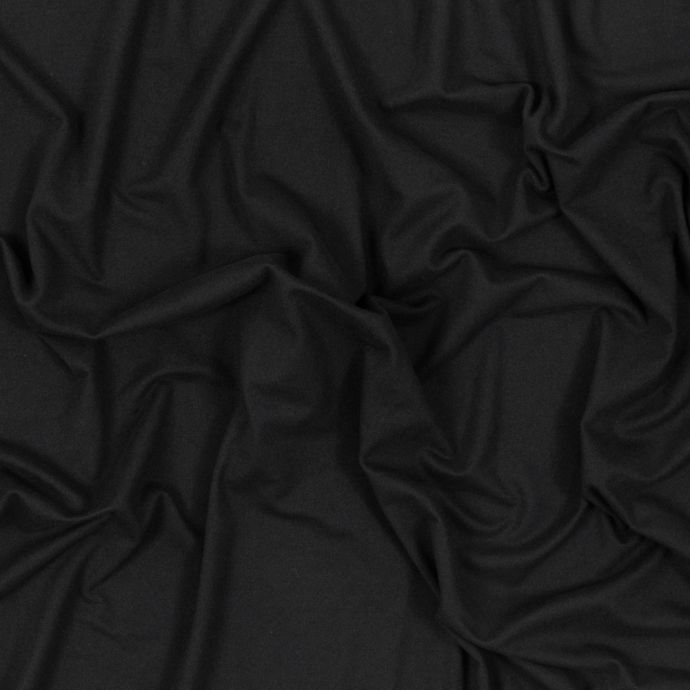 Black Double Sided Brushed DTY Jersey