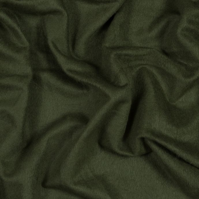 Moss Bamboo and Cotton Stretch Knit Fleece
