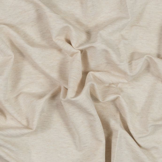 Heather Almond Bamboo Stretch French Terry