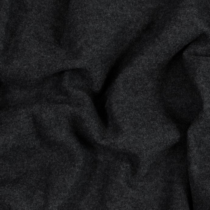 Italian Gray Boiled Wool Fused to a Black Ponte Knit