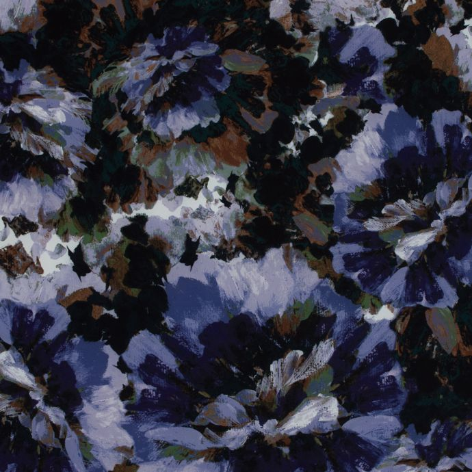 Green and Gothic Grape Floral Scuba Knit