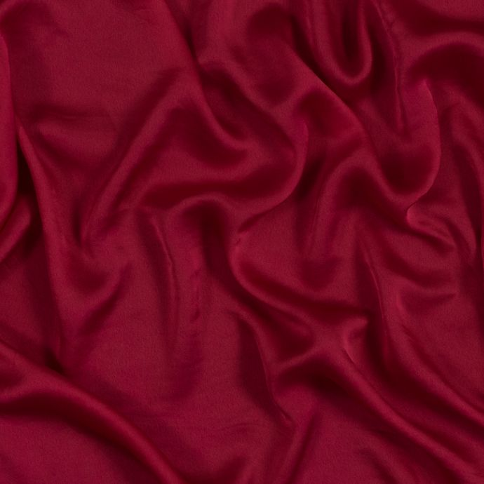 Muted Red Polyester Crepe de Chine