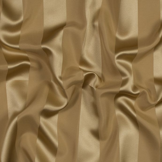 Victorian Gold Regal Striped Polyester Satin