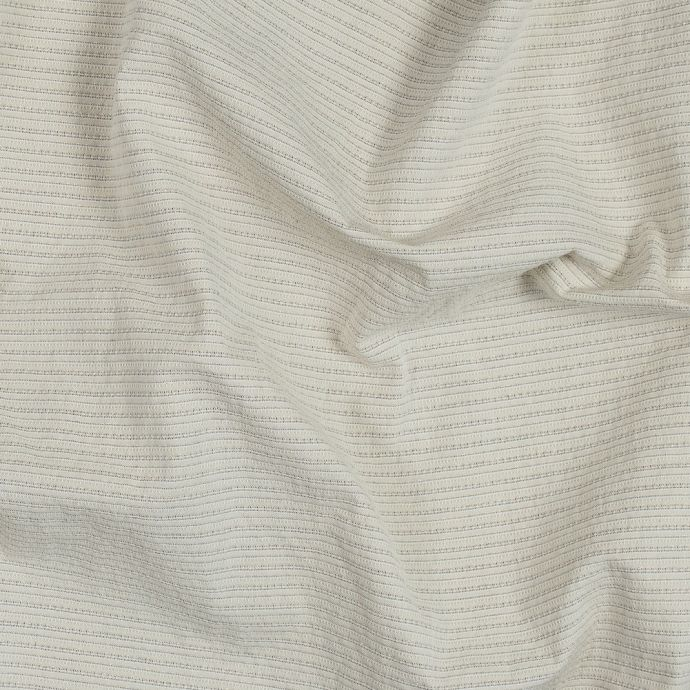 Beige and Metallic Gold Tactile Striped Cotton Woven